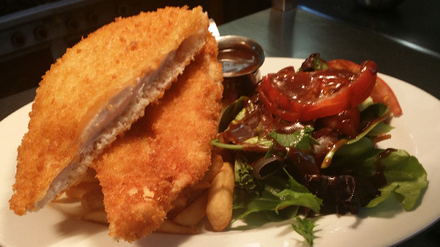 Fish'n'grill-style chicken breast schnitzel